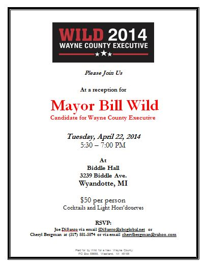 Wyandotte Reception For Mayor Bill Wild Candidate for Wayne County Executive